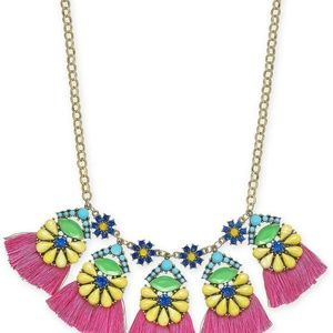 INC Gold-Tone Multicolor Bead Flower & Tassel Stat